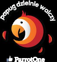 Papug dzielnie walczy