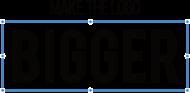 Make the logo bigger-  Prezent dla grafika komputerowego - Koszulka męska