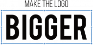 Make the logo bigger-  Prezent dla grafika komputerowego - Koszulka damska