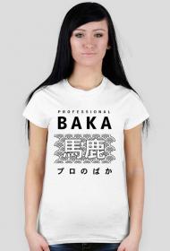 Prezent dla fana anime - Sklep Kawaii - Baka (Czarny napis, Damska)