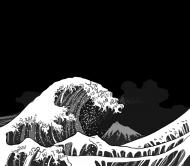 Wielka fala w Kanagawie - Maseczka na twarz