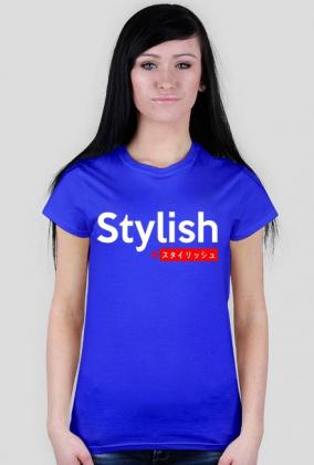 Stylish #スタイリッシュ- Damska koszulka z japońskim napisem