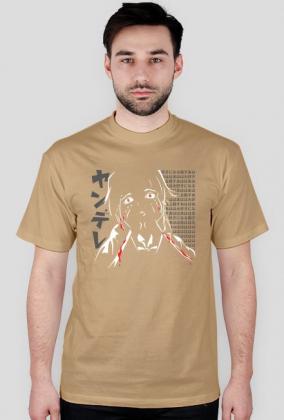 Koszulka anime Mirai Nikki Yandere (gray hiragana) (Męska)