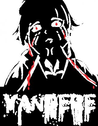 Koszulka anime Mirai Nikki Yandere (full white romaji) (Damska)