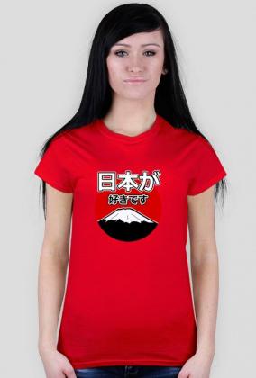 Nihon ga suki desu - Kocham Japonię - Prezent dla Otaku - Koszulka damska