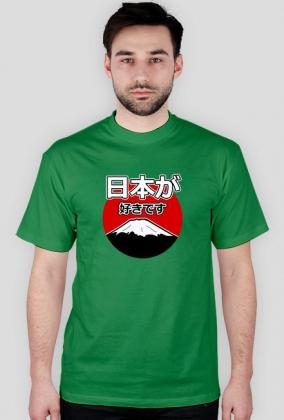Nihon ga suki desu - Kocham Japonię - Prezent dla Otaku - Koszulka męska