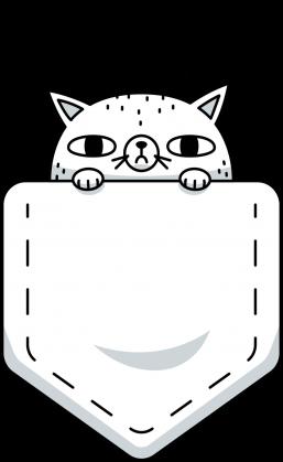 Kieszonka z kotem - Bluza męska