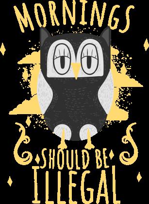 Bluzka z sową / Prezent dla śpiocha