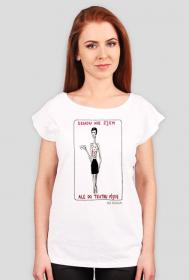 """Koszulka """"Obiadu nie zjem"""", wersja brunetka"""
