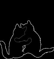 Kubek koty retro - Szczescia chodza parami