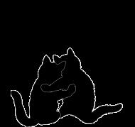 Poszewka koty retro - Szczescia chodza parami