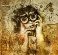Torba steampunk grunge - Dziewczyna, vintage, retro