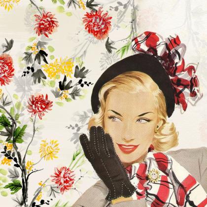 Poszewka na poduszkę (Kobieta Vintage)