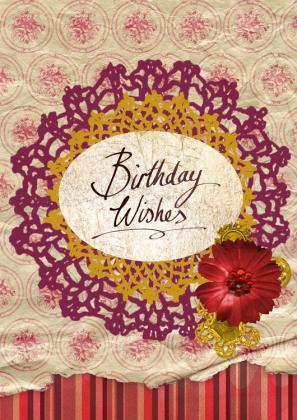 Poszewka urodzinowa (Vintage)