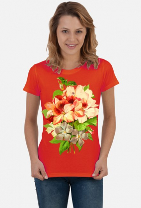 Koszulka damska (Kwiaty)