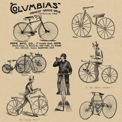 Poszewka rowery - Vintage, retro
