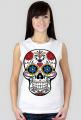 Koszulka damska bez rękawów (Czaszka meksykańska)