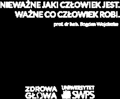Czarna torba z cytatem prof. Wojciszke - Zdrowa Głowa i Uniwersytet SWPS