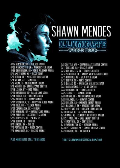 "Plakat ""Illuminate Tour Dates"""