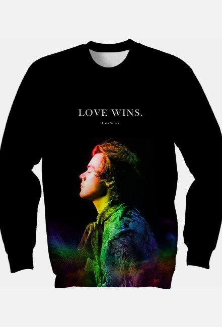 "Bluza *Fullprint* H.S. ""Love wins."""