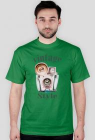 Koszulka fotograficzna meska vintage style
