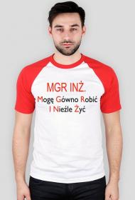 Magister inżynier - koszulka męska