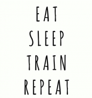 EAT SLEEP TRAIN REPEAT- KOSZULKA DAMSKA