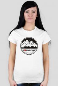 I LOVE MOUNTAINS - KOSZULKA  DAMSKA