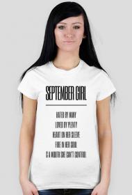 SEPTEMBER GIRL - koszulka damska (różne kolory)
