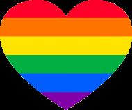 LGBT - koszulka damska serce