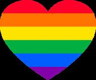 LGBT - koszulka męska serce
