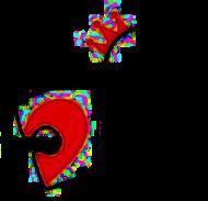 Kubek serce 2 dla zakochanych - prezent naWalentynki
