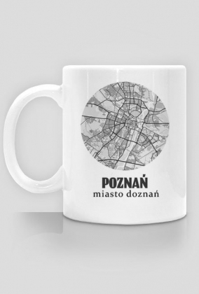 Poznań miasto doznań - kubek plan miasta
