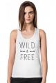 Wild and free - koszulka damska top