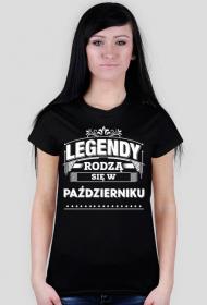T-shirt legendy rodza sie w pazdzierniku