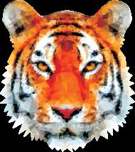 Tygrys low poly koszulka 2