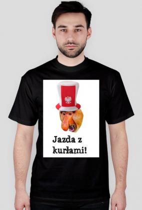 t-shirt jazda z kurłami!