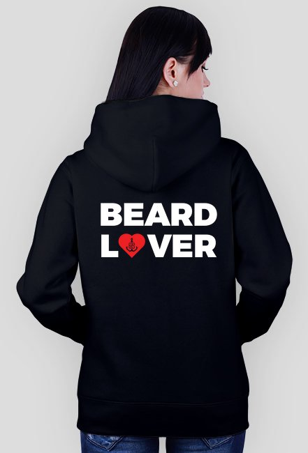 Bluza rozpinana z kapturem Beard Lover Black