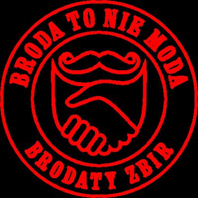 Bluza z kapturem Broda To Nie Moda logo red