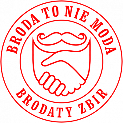 Bluza rozpinana Broda To Nie Moda logo red