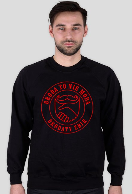 Bluza Broda To Nie Moda logo red