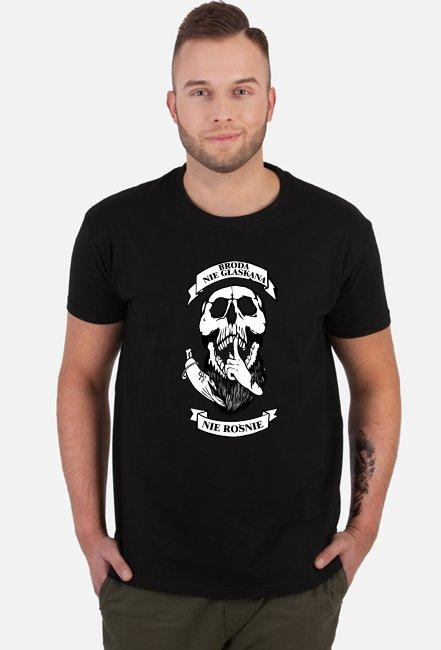 Broda nie głaskana nie rośnie - koszulka black