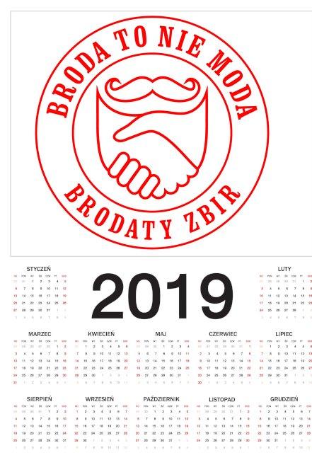 Kalendarz 2019 Broda To Nie Moda