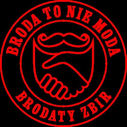 Koszulka Broda To Nie Moda logo red