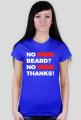 No Beard No Thanks - Black I Red