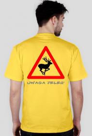 Koszulka z nadrukiem Uwaga Jeleń!