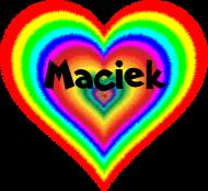 Koszulka damska W moim sercu Maciek