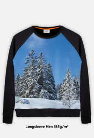 Bluza FullPrint meska 185g/m2 Pejzaz zimowy