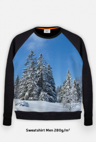 Bluza FullPrint meska 280g/m2 Pejzaz zimowy