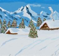 Kolorowa maseczka ochronna wielokrotnego uzytku Zima w górach